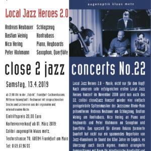 close 2 jazz am 29.01.19 Jazz mit Colibri Augenoptik in Frankfurt am Main
