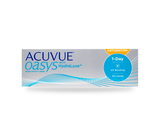 1 Tages Tauschsystem ACUVUE OASYS for Astigmatism with HydraLuxe 30er Box - Kontaktlinsen - Optiker Frankfurt