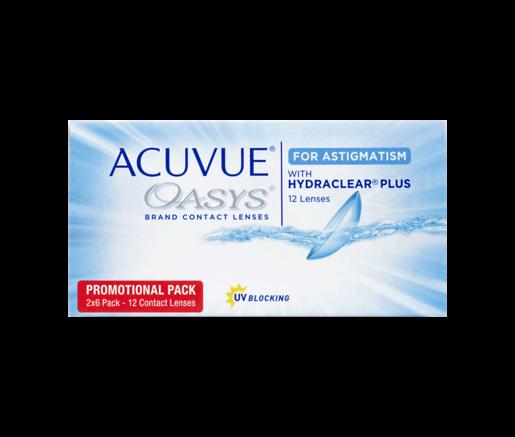 2 Wochen Tauschsystem ACUVUE OASYS for Astigmatism with Hydraclear Plus 12er Box - Kontaktlinsen - Optiker Frankfurt