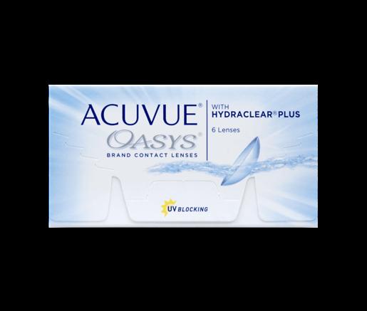 2 Wochen Tauschsystem ACUVUE OASYS with Hydraclear Plus 6er Box - Kontaktlinsen - Optiker Frankfurt